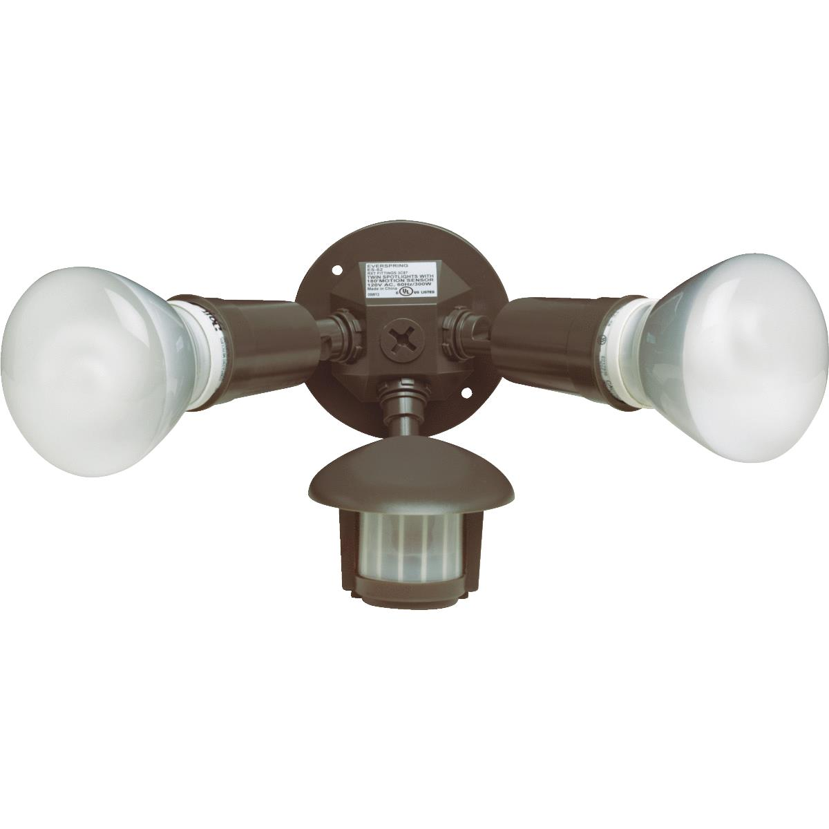180-Degree Non-Metallic Incandescent Motion Floodlight Fixture