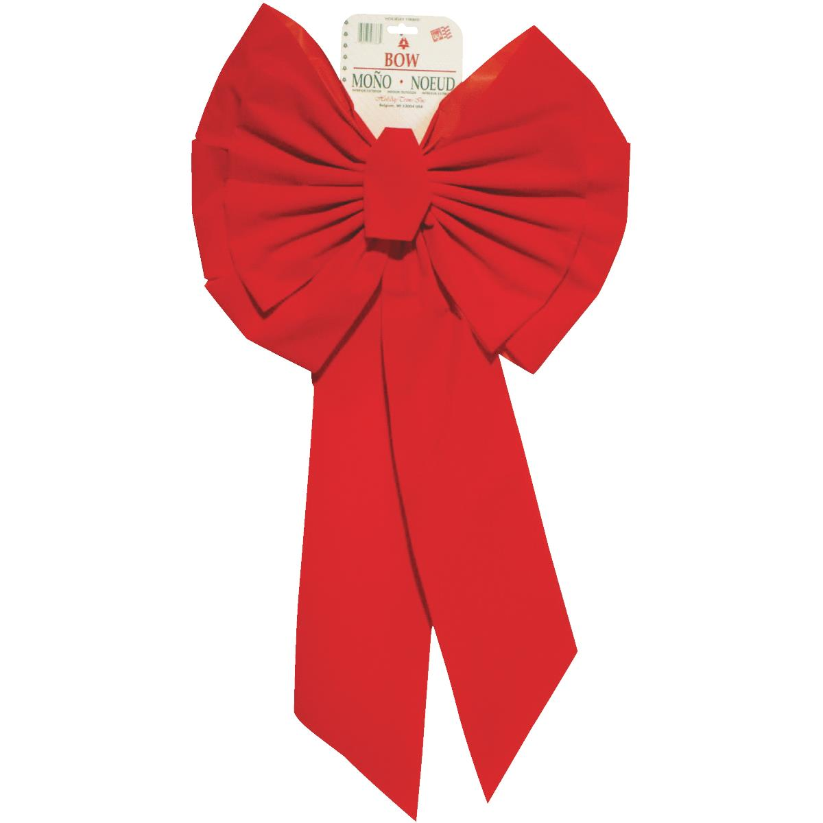 Holiday Trims 11-Loop Red Velvet Christmas Bow