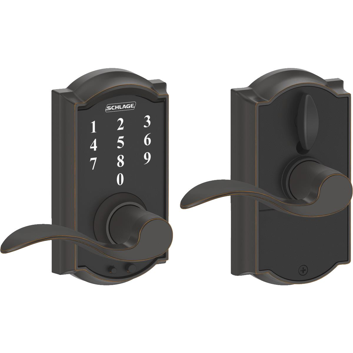 Schlage Camelot Lever Touch Electronic Entry Lock