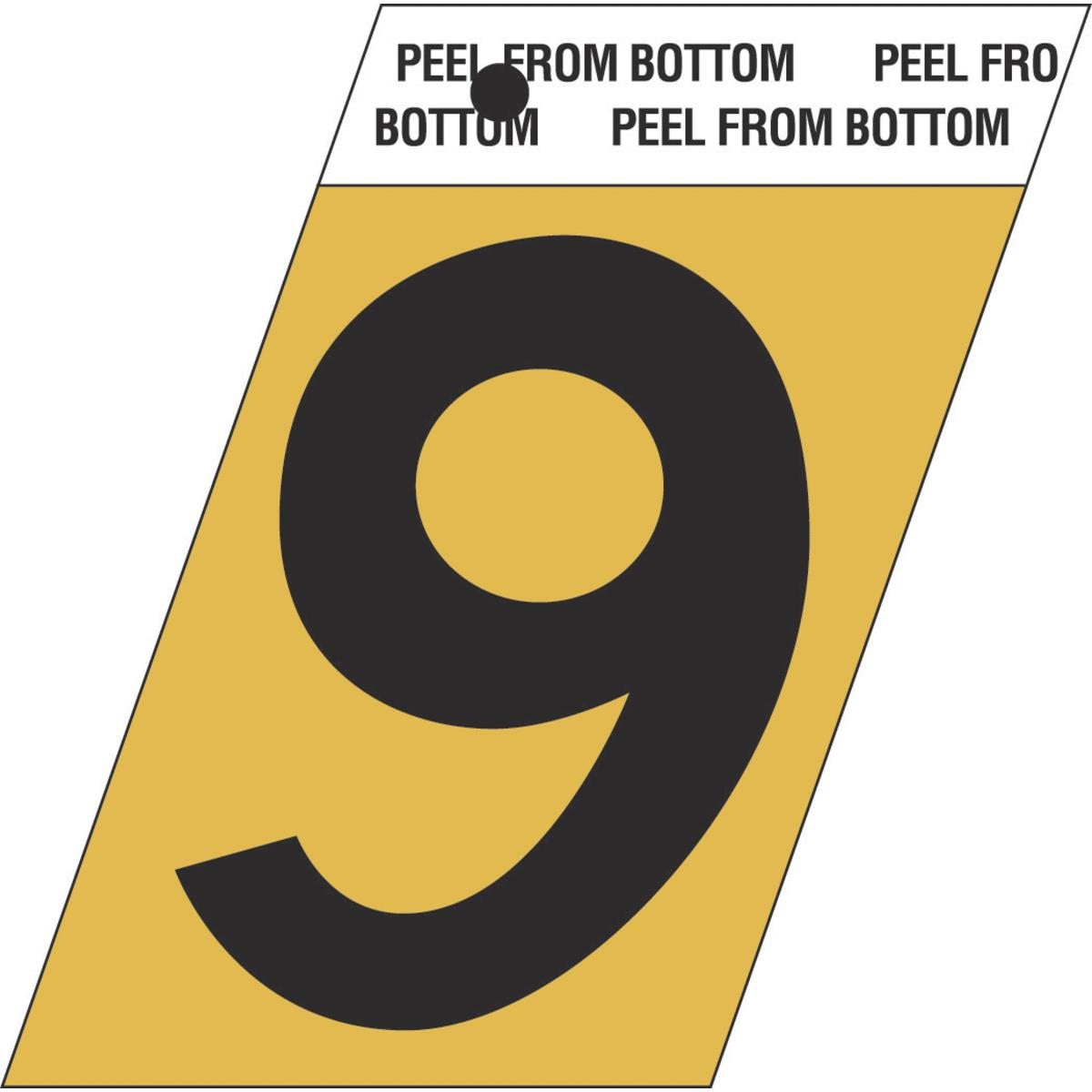 1-1/2″ Press-On Anodized Gold Aluminum Numbers