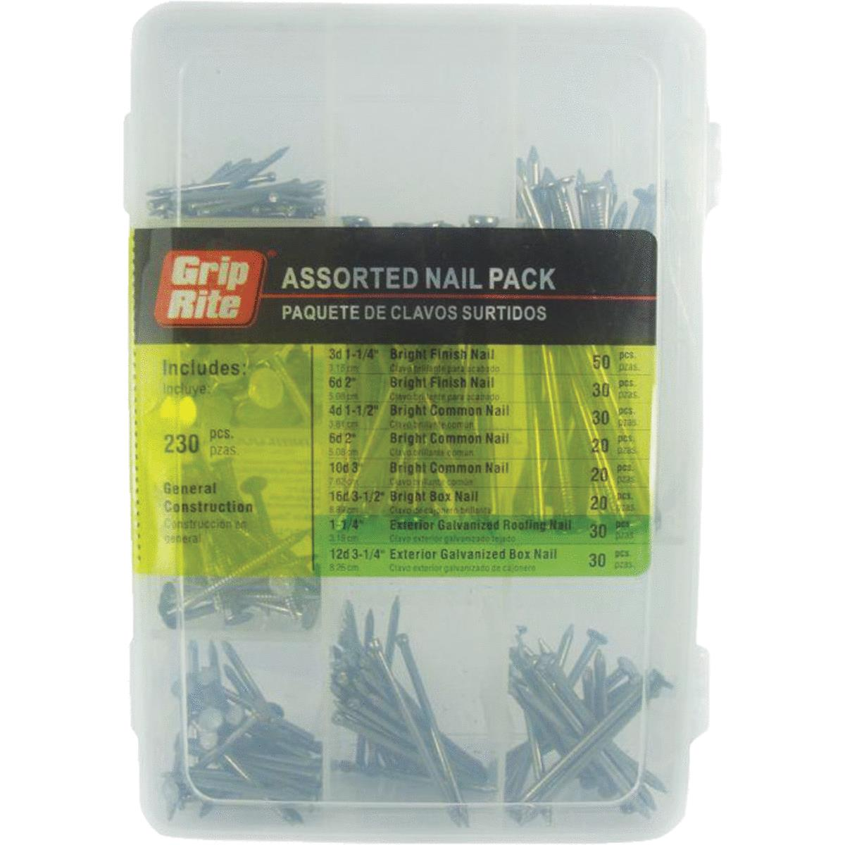 Grip-Rite 230-Piece Assorted Nail Multipack