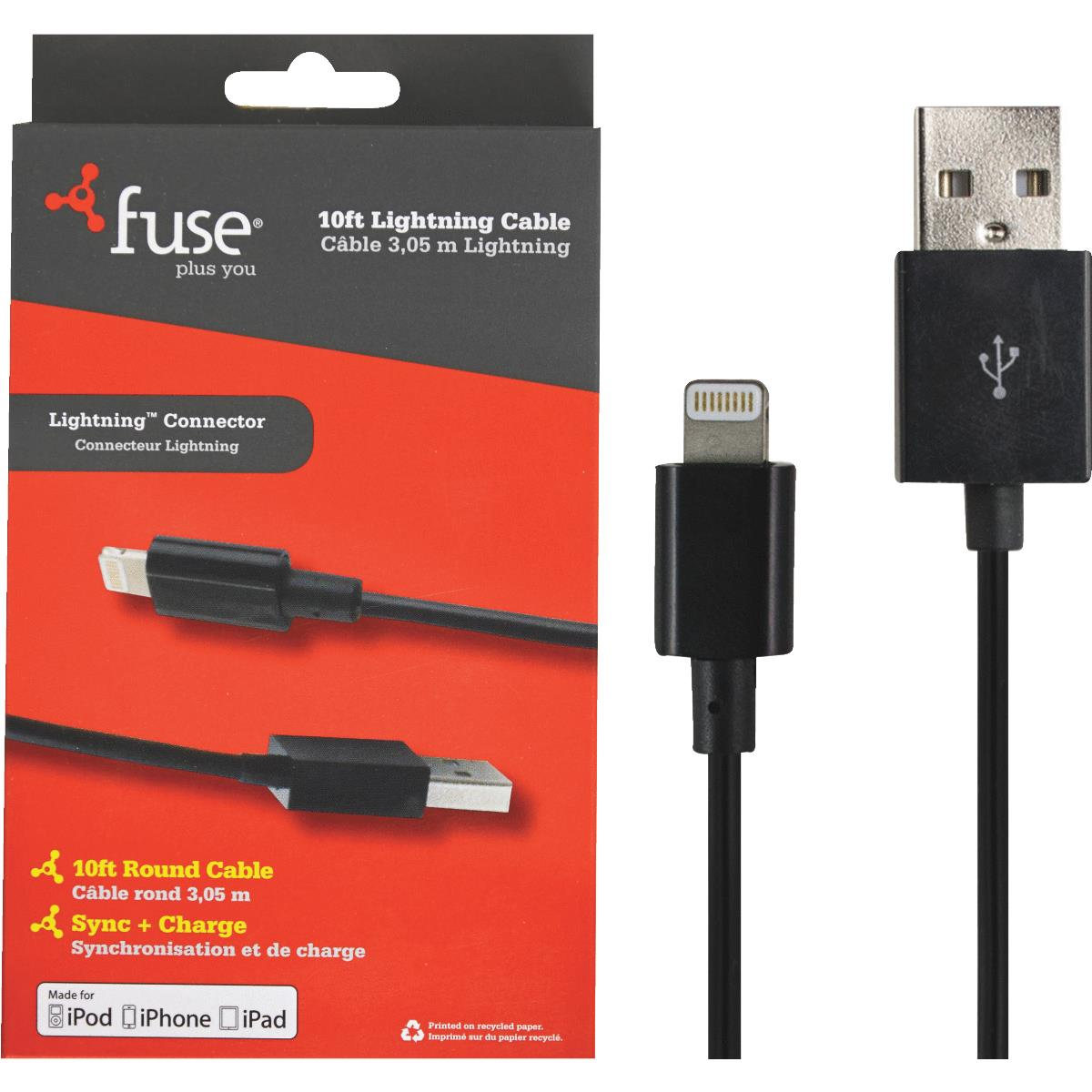 Fuse Lightning USB Charging & Sync Cable