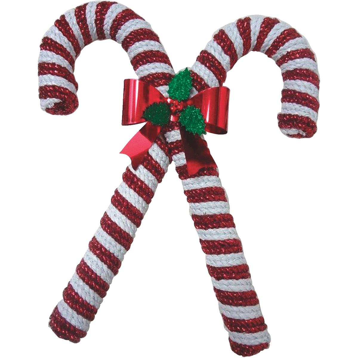F C Young Double Candy Cane Holiday Decoration