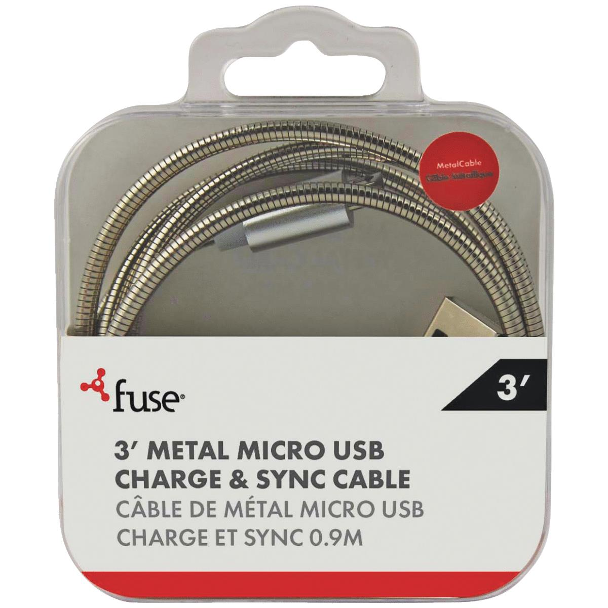 Fuse Micro USB Metal Charging & Sync Cable