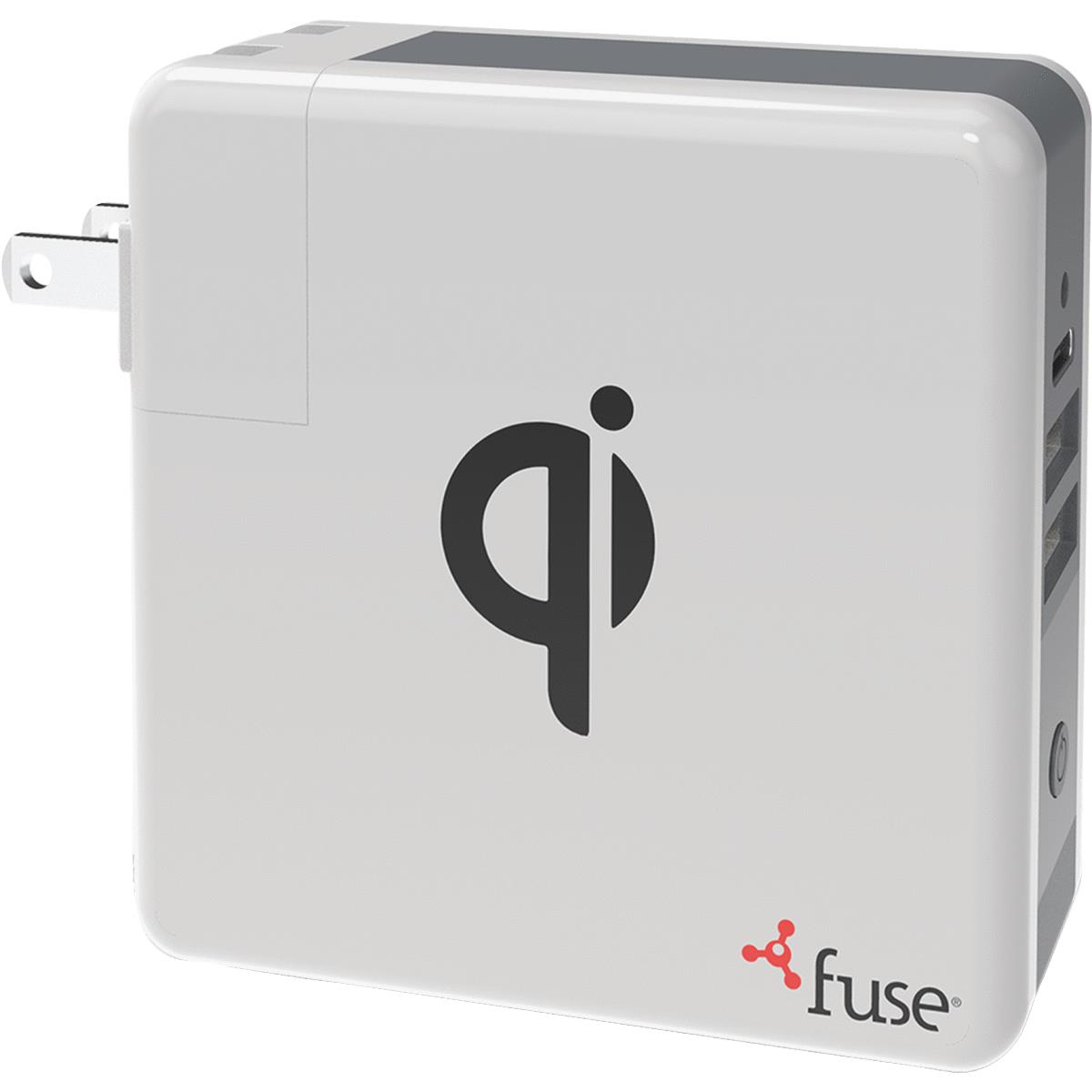 Fuse 3-In-1 Portable Qi Wireless USB Charger