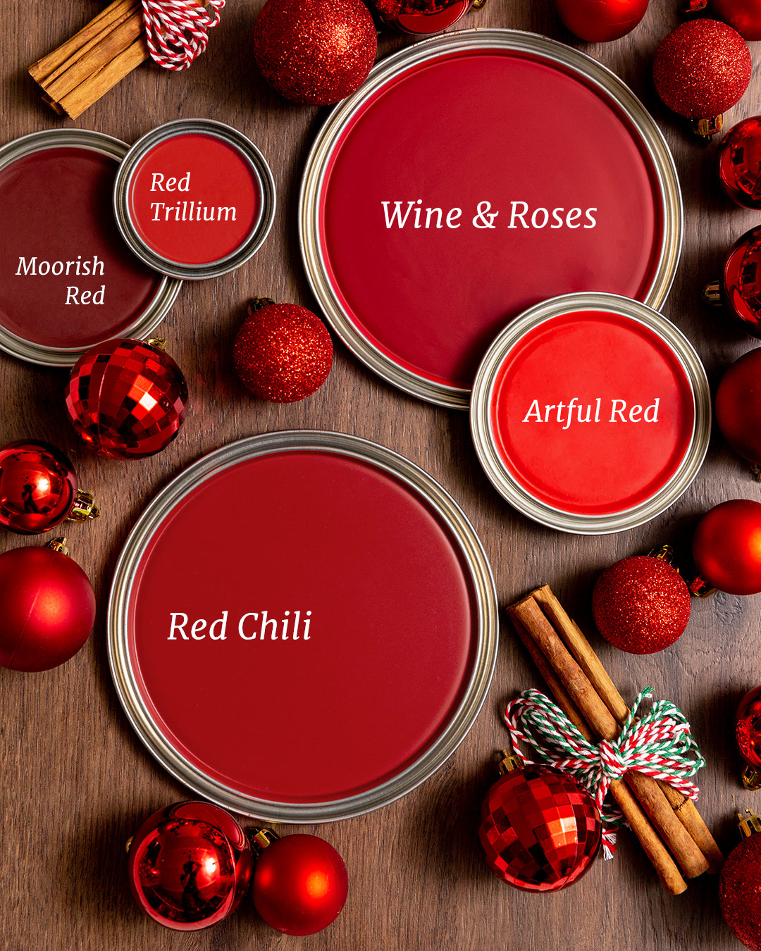 Warm red holiday paint colors