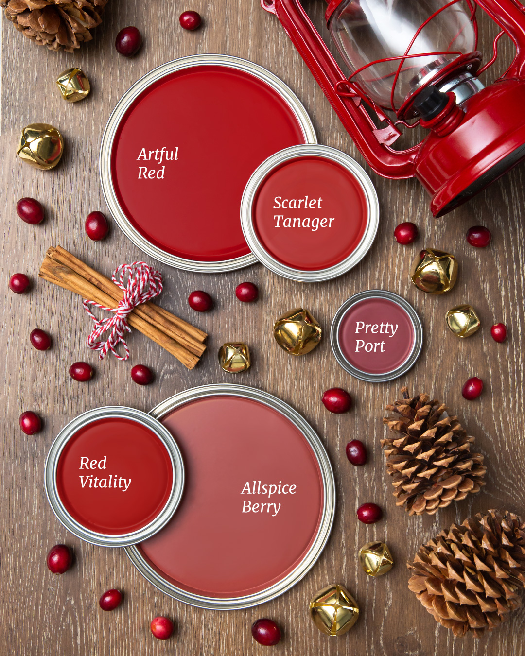 Cool red holiday paint colors