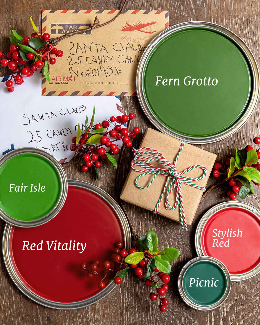 Santa inspired paint colors
