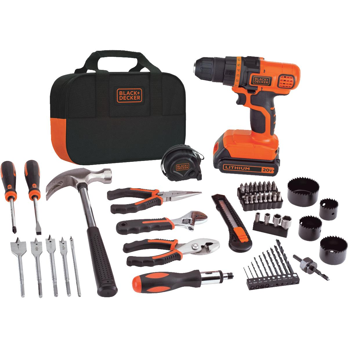 Black & Decker 20V Lithium Ion Project Kit