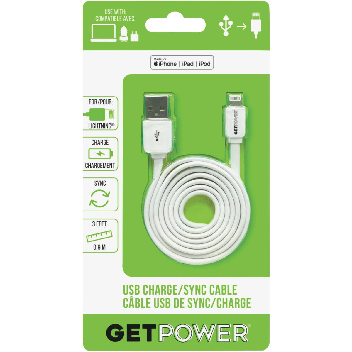 GetPower Apple Lightning USB Charging & Sync Cable