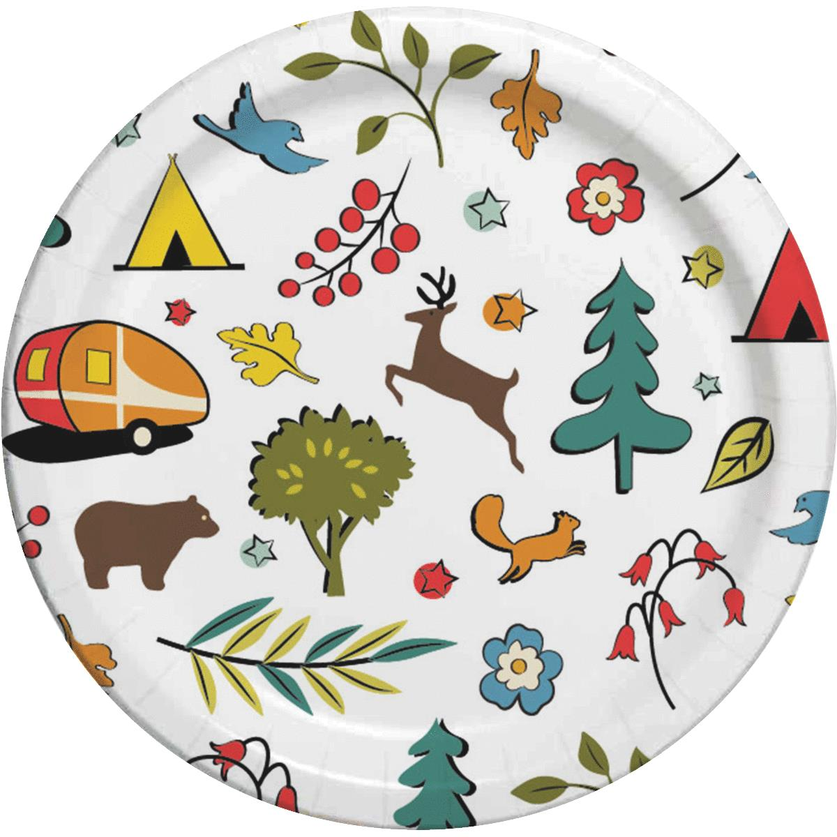 Camp Casual Eco-Friendly Paper Plate